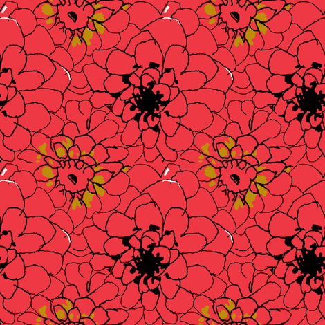 Dahlia Field_45_Picnik_collage-ch-ch fabric by khowardquilts on Spoonflower - custom fabric