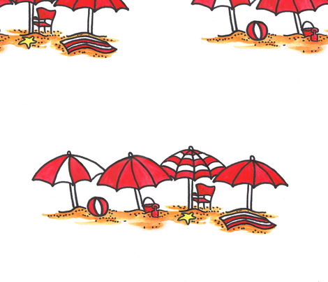 red_umbrellas fabric by joycemj on Spoonflower - custom fabric