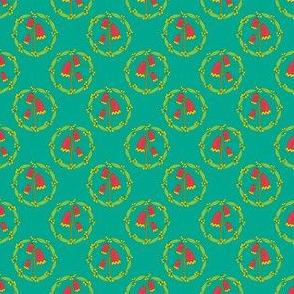 Miniature Floral Rosette Medallions on Jade