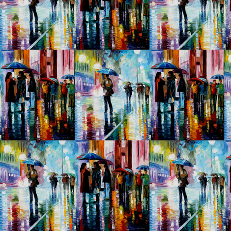 Bus Stop Under The Rain fabric by afremov_designs on Spoonflower - custom fabric