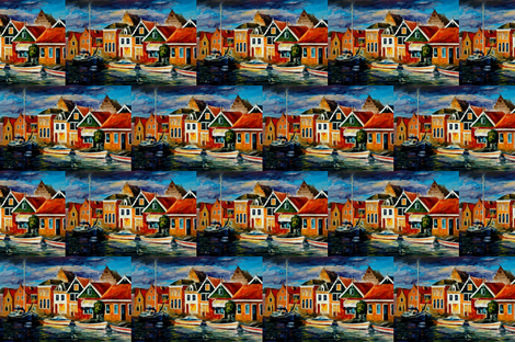 Old Sea Front fabric by afremov_designs on Spoonflower - custom fabric