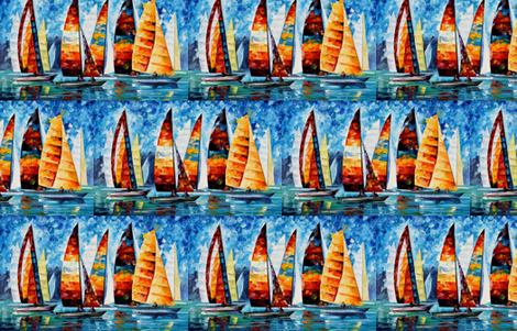 Sail Regatta fabric by afremov_designs on Spoonflower - custom fabric