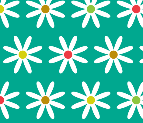 Daisy Dots fabric by annaleeblysse on Spoonflower - custom fabric