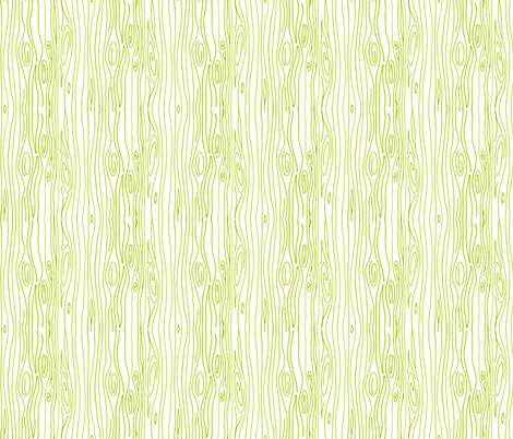 Wonky Wood - Green (off white background)