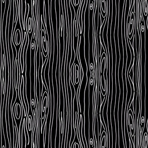 Wonky Wood - Black and White