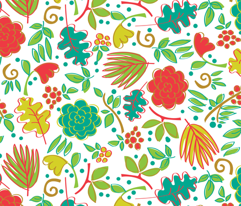 Bodacious Botanicals fabric by acbeilke on Spoonflower - custom fabric