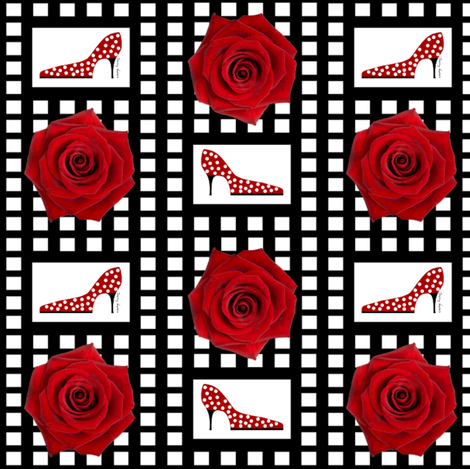 Ohh la la! Red rose fabric by paragonstudios on Spoonflower - custom fabric