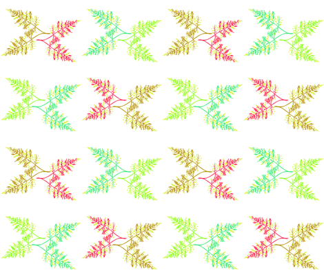 Botanical_Fern_white_Kalou_2011 fabric by artonsurface on Spoonflower - custom fabric