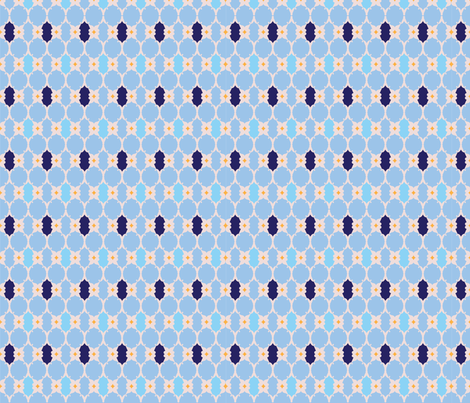 The Blue fabric by artonsurface on Spoonflower - custom fabric