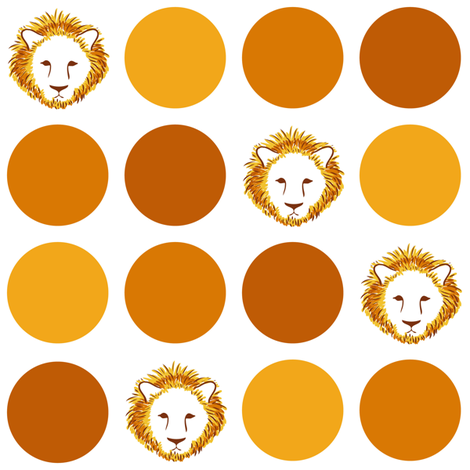Lion-Dot fabric by jmckinniss on Spoonflower - custom fabric