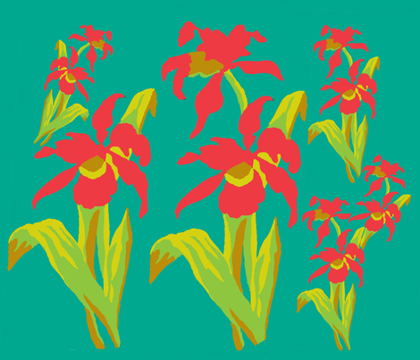 An Iris Inspiration fabric by karenharveycox on Spoonflower - custom fabric