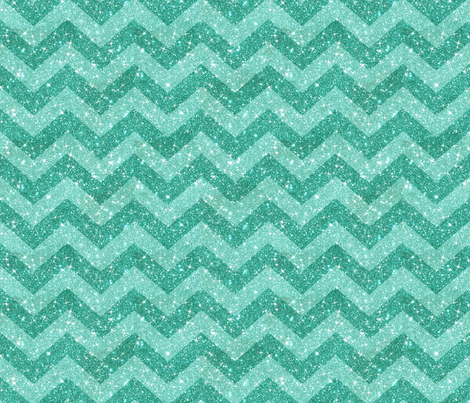 Glitter Chevron Blue on Blue fabric by cynthiafrenette on Spoonflower - custom fabric