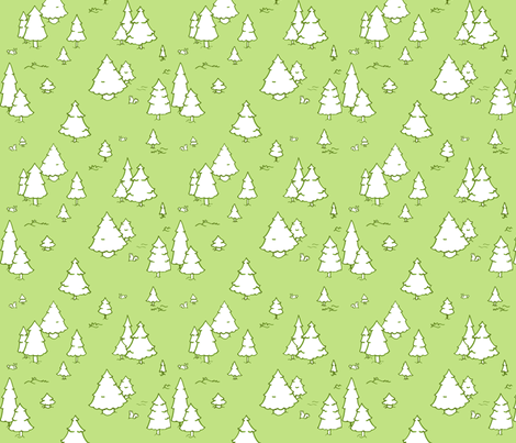 A Lot of Trees - Green fabric by jesseesuem on Spoonflower - custom fabric