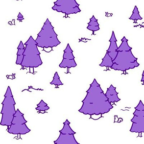 A Lot of Trees - Purples (white background)