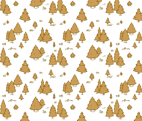 A Lot of Trees - Browns (white background) fabric by jesseesuem on Spoonflower - custom fabric