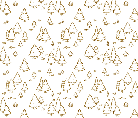 A Lot of Trees - Browns (outlines) fabric by jesseesuem on Spoonflower - custom fabric
