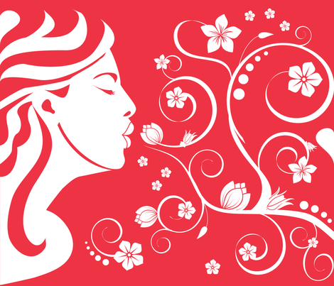 (Large) Aphrodite in Love fabric by greencouchstudio on Spoonflower - custom fabric
