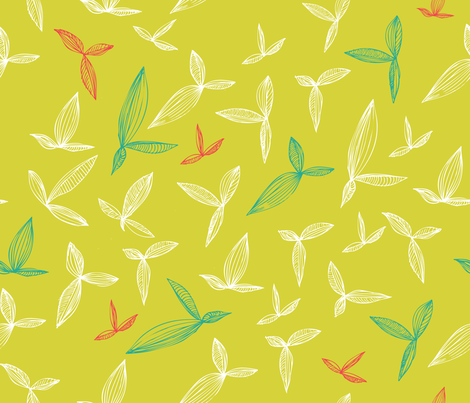 botanical_leaves fabric by oohoo on Spoonflower - custom fabric