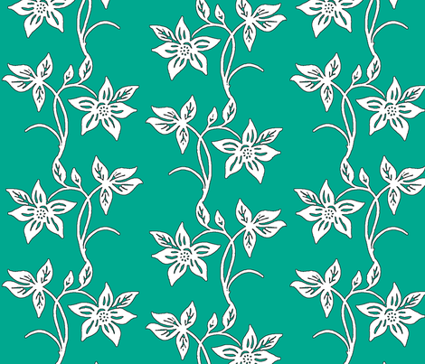 Tjapflower repeat hex color fabric by mina on Spoonflower - custom fabric