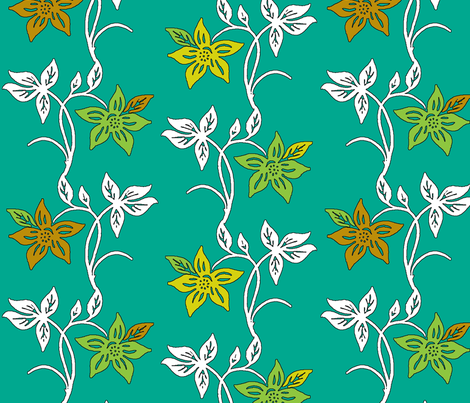 Tjapflower-repeat-150_partcolor fabric by mina on Spoonflower - custom fabric