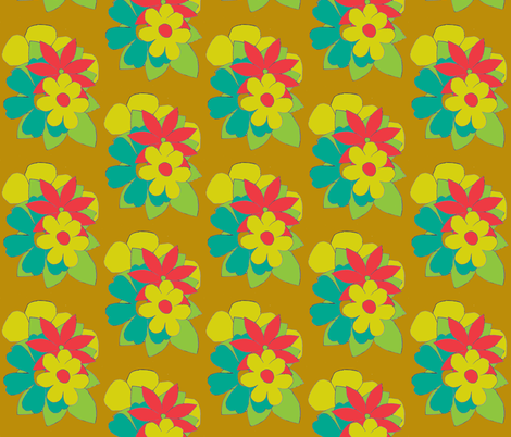 Flower Bouquets fabric by magneetje on Spoonflower - custom fabric