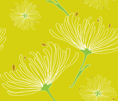 Jardin Botanique fabric by snowflower on Spoonflower - custom fabric
