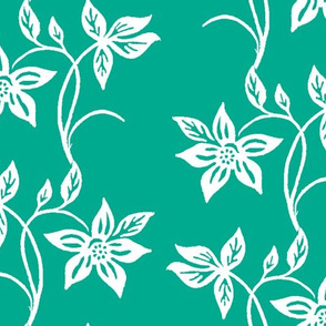 Tjapflower-repeat-150-Green-white