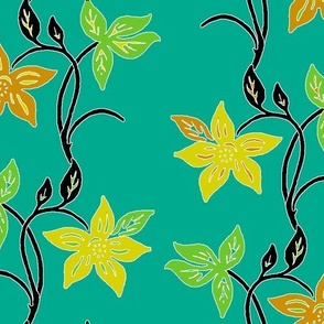 Tjapflower-repeat-150-colors-black-green