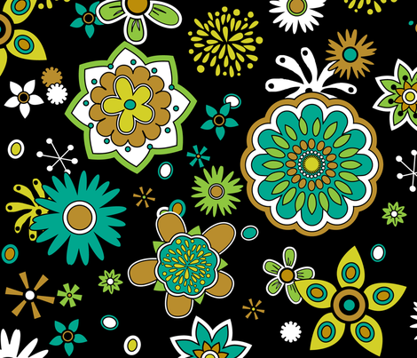 Atomic Blossom fabric by pixeldust on Spoonflower - custom fabric
