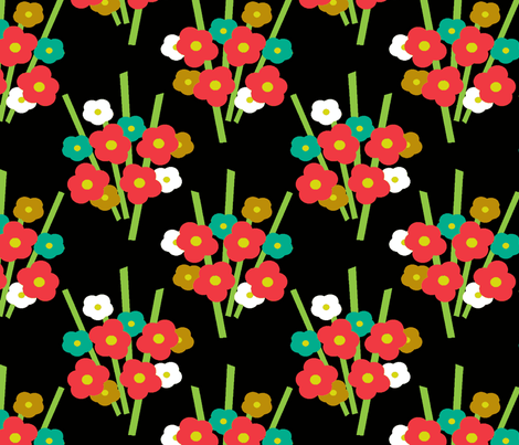 Bouquet Botanical fabric by kdl on Spoonflower - custom fabric