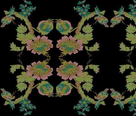 botanical paradise tree 3 fabric by paragonstudios on Spoonflower - custom fabric