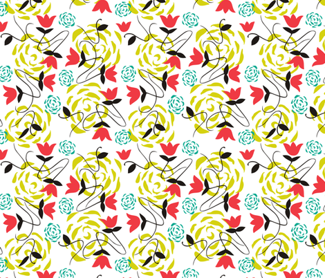 Big, Bright, Beautiful Botanical fabric by lulakiti on Spoonflower - custom fabric