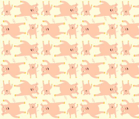 small_scale_pig fabric by featheredneststudio on Spoonflower - custom fabric