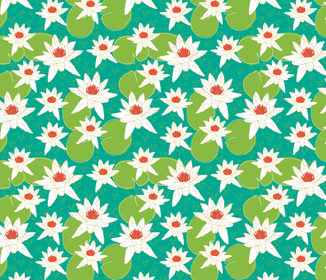 Water Lily Afternoon fabric by jaydesign on Spoonflower - custom fabric
