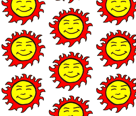 Sun Man fabric by coriander_shea on Spoonflower - custom fabric