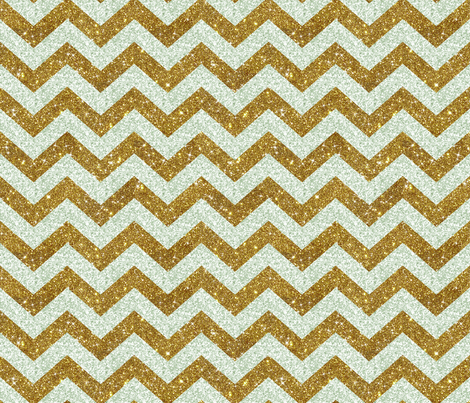Glitter Chevron Silver and Gold fabric by cynthiafrenette on Spoonflower - custom fabric