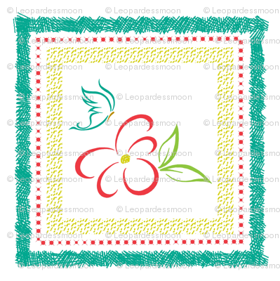 bright flower pillow panel