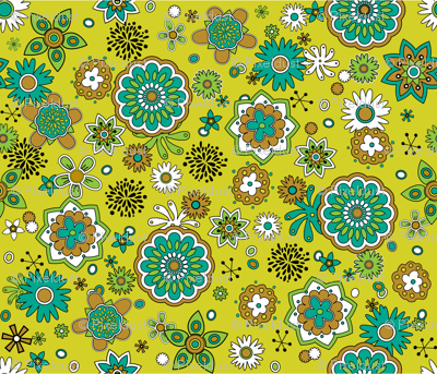 Atomic Blossoms on Yellow