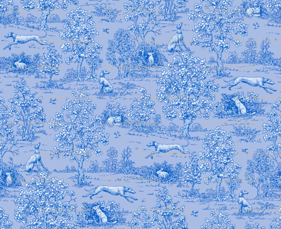 Bright Indigo Blue Reverse Greyhound Toile  ©2010 by Jane Walker