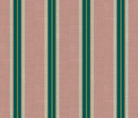 paradise blush / burlap stripe fabric by paragonstudios on Spoonflower - custom fabric