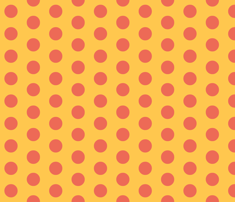 Reverse Foxie Dot fabric by featheredneststudio on Spoonflower - custom fabric