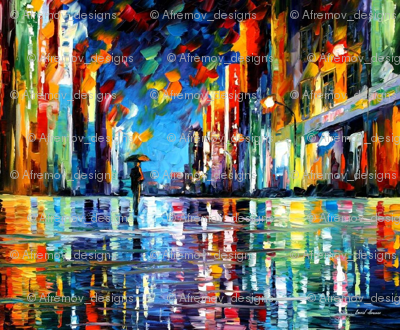 Reflections Of Blue Rain