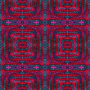 Diamond_Knit_red and blue