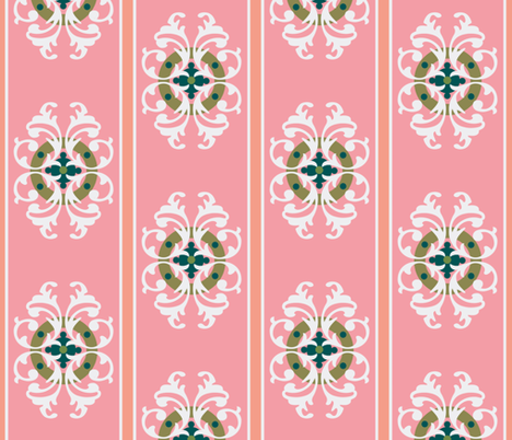 paradise blush crest fabric by paragonstudios on Spoonflower - custom fabric