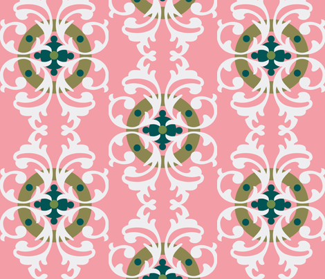 paradise blush /ornate fabric by paragonstudios on Spoonflower - custom fabric