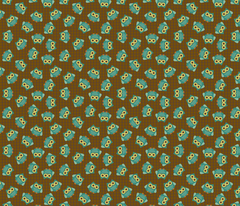 Woodland Owls Allover fabric by saraink on Spoonflower - custom fabric