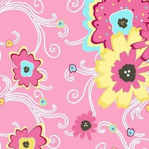 flower power pink