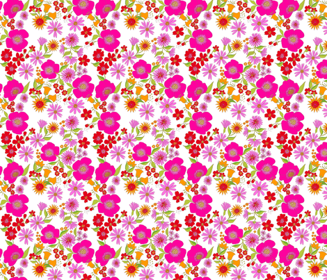 douce_fleur_rose_s fabric by nadja_petremand on Spoonflower - custom fabric