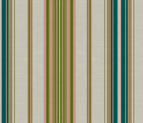 Paradise rococo stripe /burlap  fabric by paragonstudios on Spoonflower - custom fabric