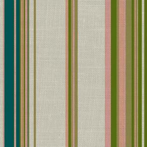 Paradise rococo stripe /burlap